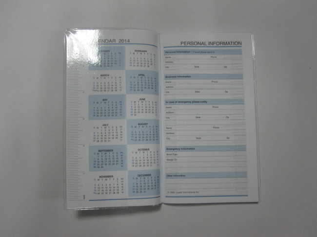 PP softcover weekly planner/notepad