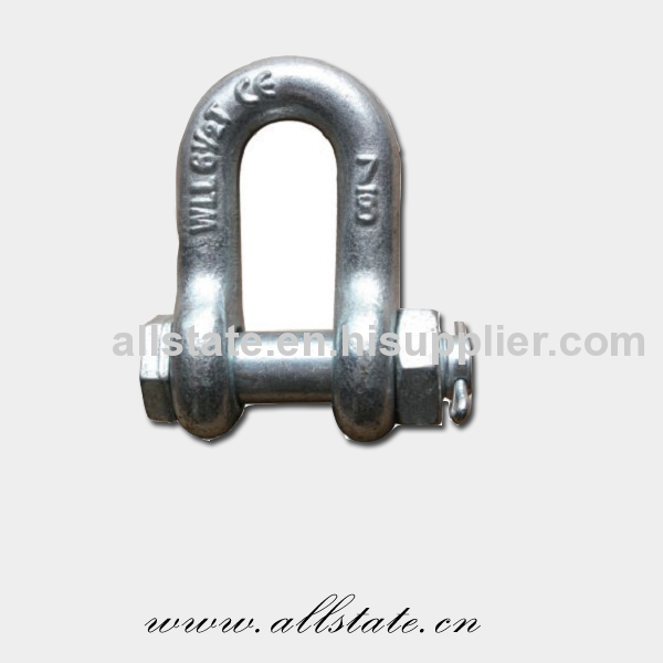 Shackle With Red Pin And Link Chain Shackle
