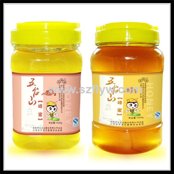 Custom Honey Glass/Plastic Bottle Packaging Self-adhesive Label Stickers