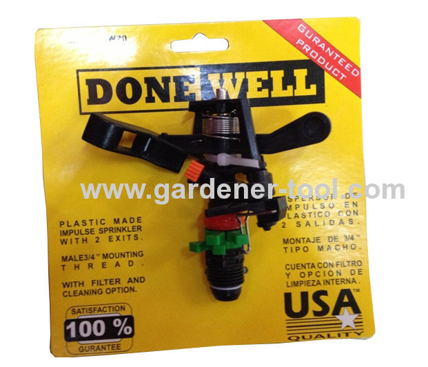 Plastic Irrigation Sprinkler Head With 3/4brass bearing sleeve