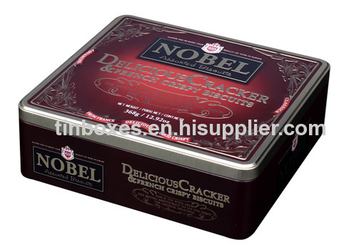 Rectangular cookie metal box