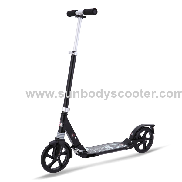 Full aluminum EN14619 kick scooter for adults with suspension