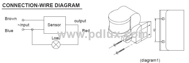 Infrared motion sensor PD-PIR127