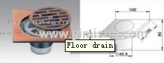 100mmx100mmx4mmAluminium Red Antique Brass Floor drain with Four Function