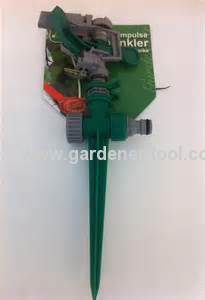 Plastic Garden Impulse Sprinkler With Plastic Spike Allow Unit-To-Unit As Sprinkler System