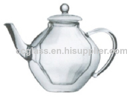 Double Wall Insulated Glass Teapot Coffee Pot