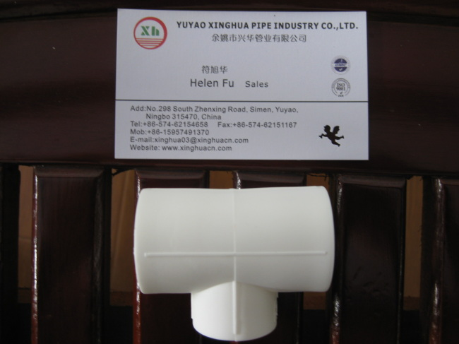 PPR plumbing material PPR Equal Tee from China