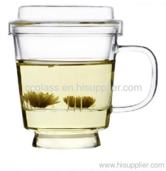 Hand Blown Heat Resistant Glass Tea Cup