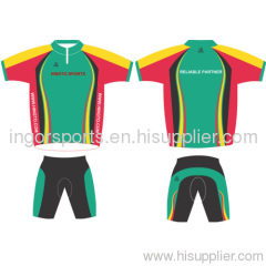Sublimated cycle clothing team cycling apparel Jersey and Shorts Cool Dry