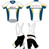 short-sleeved Sublimated Cycling Wear, Biking Jersey and Bib Shorts Cool Dry