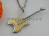 Guitar Shape Necklace Pendant Plated Gold