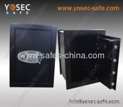 Electronic hidden wall safe flat for Large Jewelry or Small Handgun Security