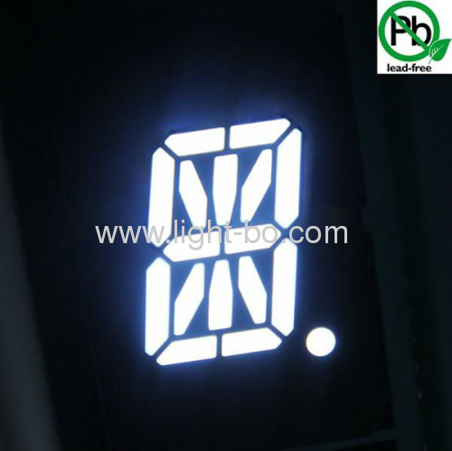 "Ultra bright white 0.5"" 16 segment led display"