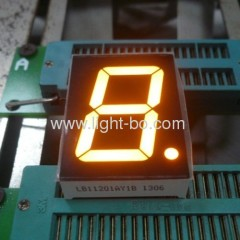 "Super bright yellow 1.2"" common anode 7 segment led display"