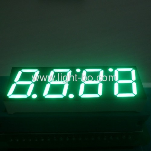 4 digit 0.56 inch Common Anode Pure Green 7 Segment LED Display for oven control