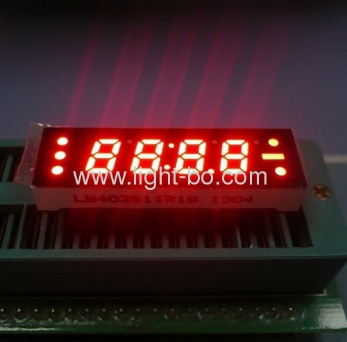 0.25 inch 4 digit common anode red 7 segment small size led clock displays