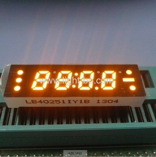 "Super Bright Green 0.25"" 4 digit 7 segment small led clock display"