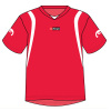 Football Team Uniforms Jerseys And Shorts Red Color Sublimated Soccer Polyester Sportswear