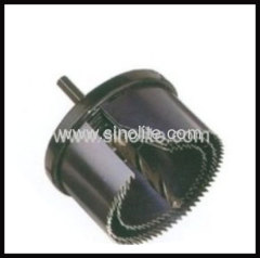 Exchangable hole saw set 3pcs size: 60-67-74mm, center drill 8mm made by 65Mn packed in double blister