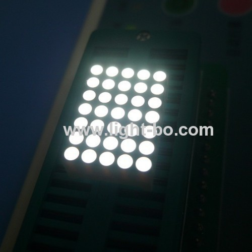 Ultra Bright White 0.7 inch1.9mm 5 x 7 dot matrix led display Package dimensions: 12.7 x 17.8 x 6.3mm