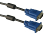 Blue Head VGA Cable With Ferrite Cores