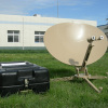 0.75m portable satellite communication antenna system