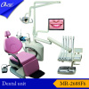 Deluxe Top Mounted dental unit with three fold dental chair