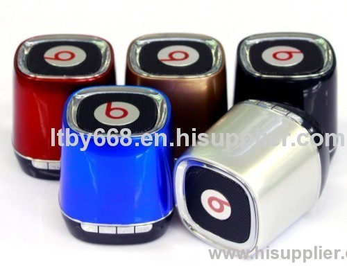 2013 China Mini Portable Bluetooth Speaker with TF Mic, Build in MP3 Player Bluetooth GS003