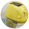 Toaster with Detachable Roasting Logo Yellow Color