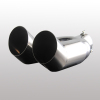 Dual automobile exhaust muffler pipe