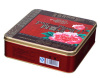 Square biscuit tin box