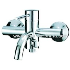Wall Mounted Exposed Bath Shower Faucet for Bathtub