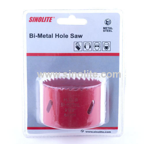 Red color Bi metal Hole Saw Materials M3, M42, 4/6 variable sharp teeth