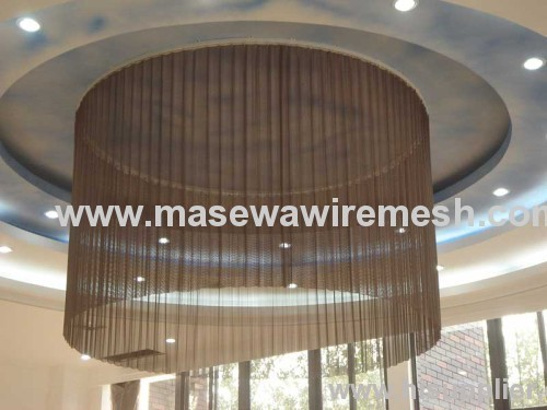 metal wire mesh as ceiling decoration
