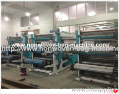 4 color non-woven fabric flexo printing machine