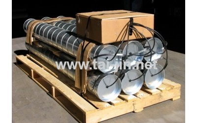 MMO Titanium Tube Anode Prepacked in a Steel Canister with Petroleum coke