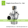 Diaphragm valve with compression fitting