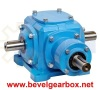 spiral bevel gears cross-shaft gearbox,90 degree transmission gearbox, 90 degree angle gear box