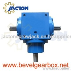 90 degree gear drive box, 90 degrees angle shaft gearbox, small shaft drive transmission gearbox