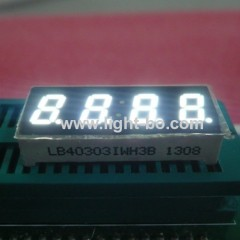 Ultra Bright White 4-digit 0.3-inch Common Anode 7 segment led display for medical instrupent panel