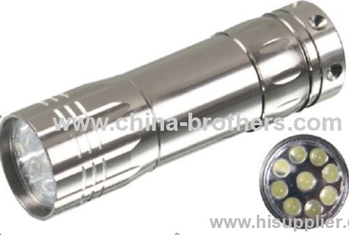 Mini led torch/9 led mini flashlight torch/ mini led flashlight with 3AAA