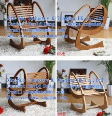 Red oak rocking chair leisure, wooden living room furniture, wooden bedroom furniture, wooden outdoor furniture