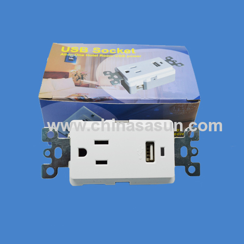 VOLTAGE 1V SINGLE USB WALL SOCKET