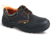 Black Action Leather Steel S1P Safety Shoes