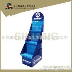 Four Color Printing Supermarket Cardboard Display Rack