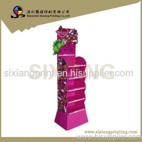 Easy-assemble Promotion Cardboard Display Stand