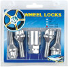 wheel bolt locks,4 spline lug bolts ,1 key apdater