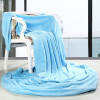 Coral Velet Fleece Blanket Blue Color Blanket