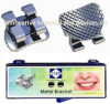 Orthodontic Metal Bracket 80 meshes base bondable
