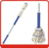 Fixed Iron handle cotton twist mop for Floor cleaning